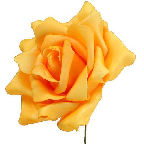 Foam Rose Ø15cm Gelb 4St