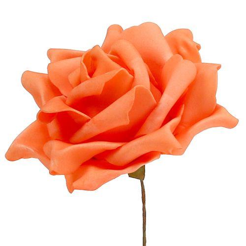 Foam Rosen Orange Ø15cm 4St