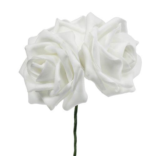 Foamrosen Weiß Ø5cm 12St