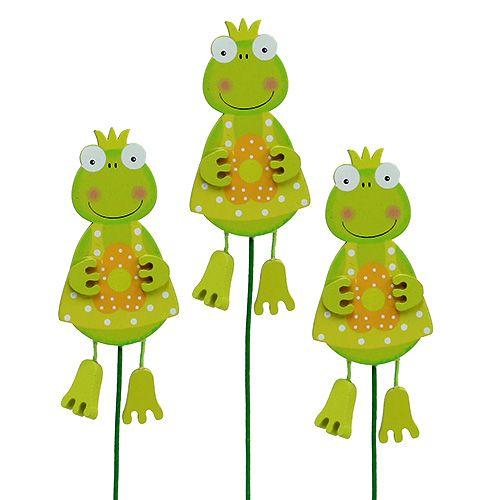 Froschmädchen mit Blume Grün 11,5cm  15St