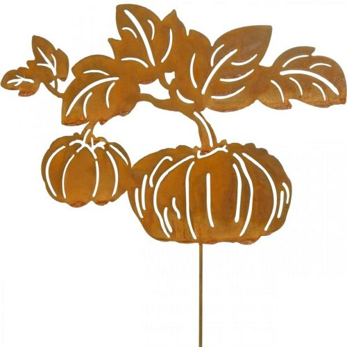 Gartenstecker Kürbis Rost Gartendeko Herbst Metall 57cm