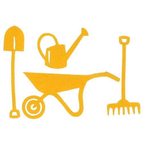 Gartenwerkzeug Filz Gelb 12St