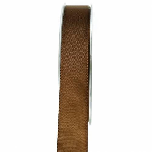 Geschenk- und Dekorationsband Braun 25mm 50m