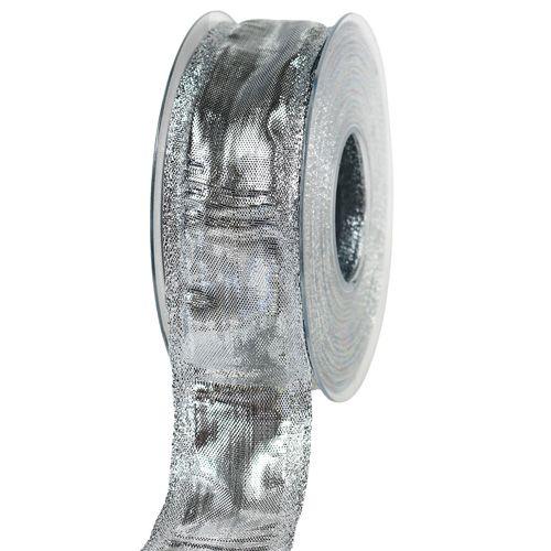 Geschenkband Silber 40mm 25m