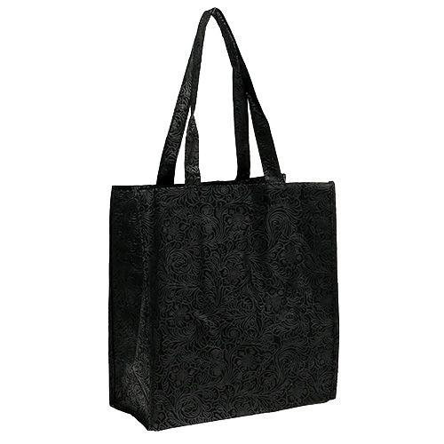 Geschenktasche Schwarz 30cm x 33cm 1St