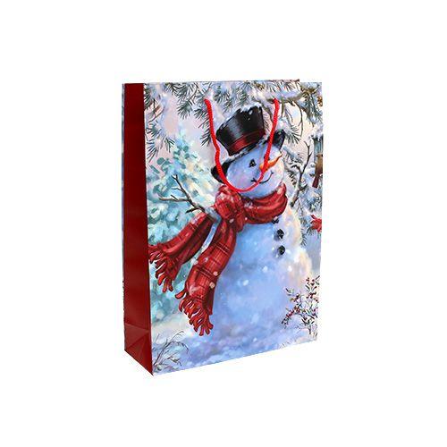 Geschenktüte klein Schneemann 12cm x 19cm 1St