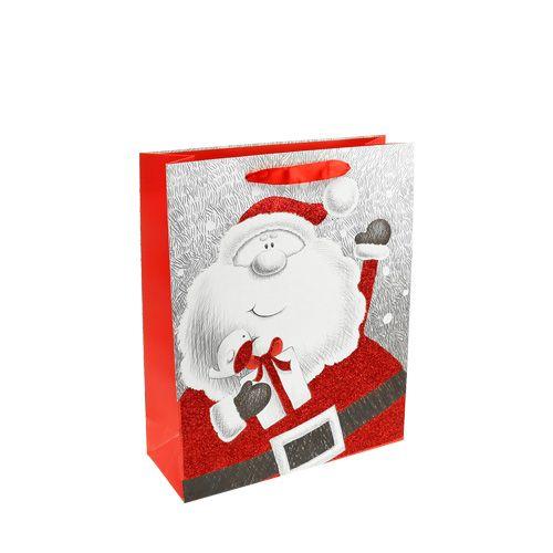Geschenktasche mit Santa 24cm x18cm x 8cm