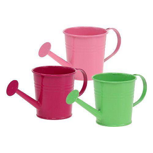 Gießkanne Ø5,5cm H6cm 12St. Grün, Pink, Rosa