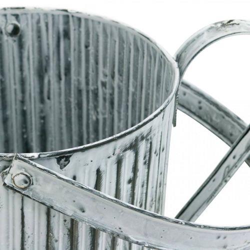Metallkanne zum Bepflanzen, Gießkanne zum Dekorieren, Pflanzkanne Ø17cm
