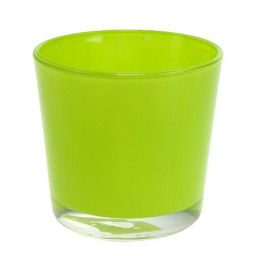 Glasübertopf Hellgrün Ø11,5 H11cm