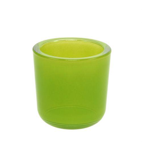 Glastopf Ø7,8cm H8cm Apfelgrün