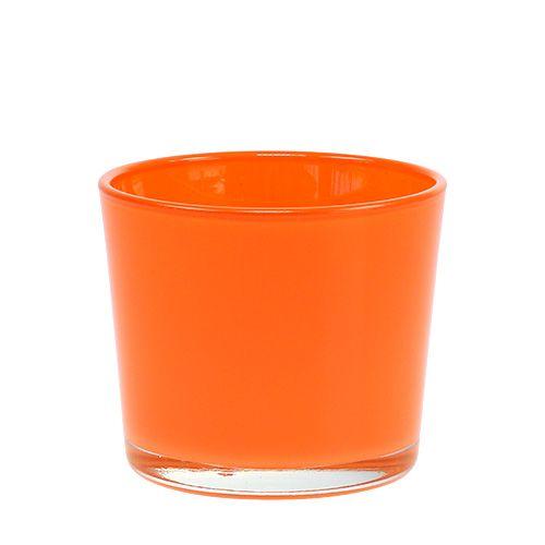 Glasübertopf Orange Ø10cm H8,5cm