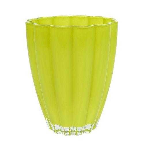 "Glasvase ""Bloom"" Limette Ø14cm H17cm"
