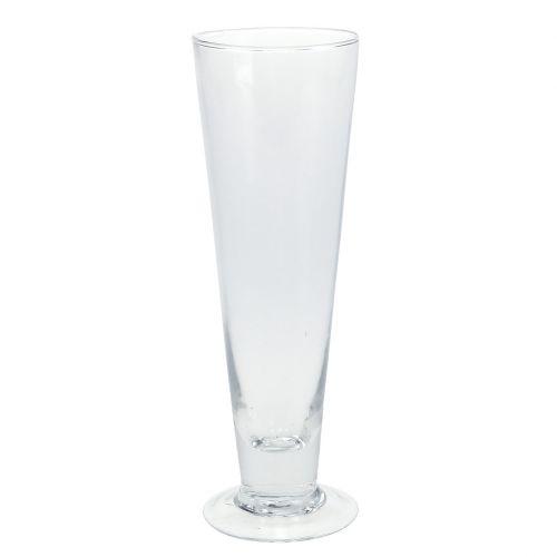 Glasvase Caro Ø6,3cm H20cm klar
