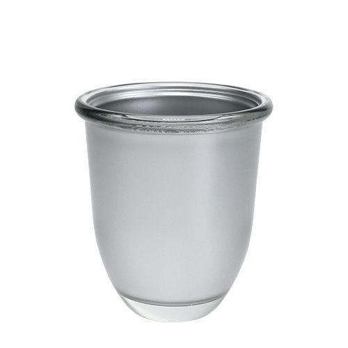 Glasvase Cosmo Silber Ø10,8cm H12,5cm