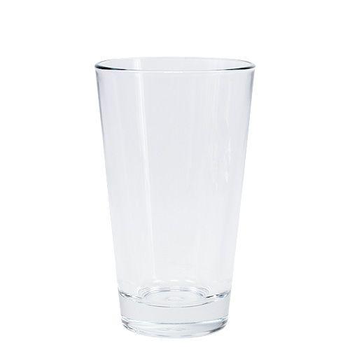 Glasvase konisch Ø8,5cm H14,5cm