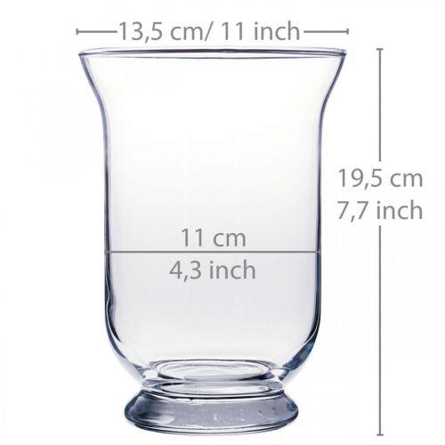 Glasvase klar Ø13,5cm H19,5cm Glasdeko Blumenvase