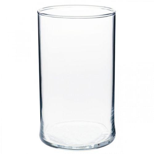 Glasvase klar Zylindrisch Ø12cm H20cm