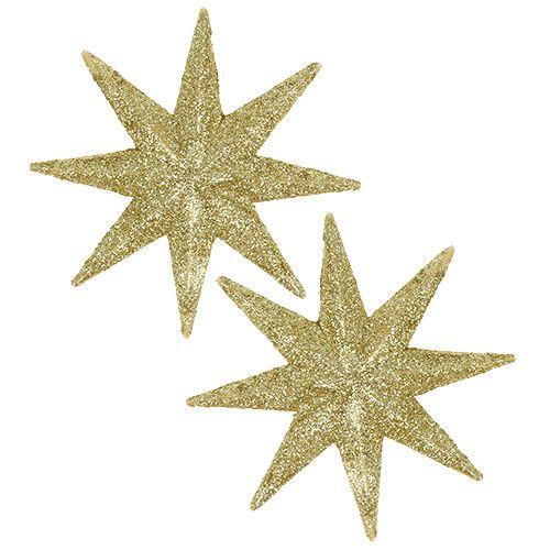 Glitterstern Gold Ø10cm 12St