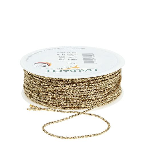 Goldkordel 2mm 50m