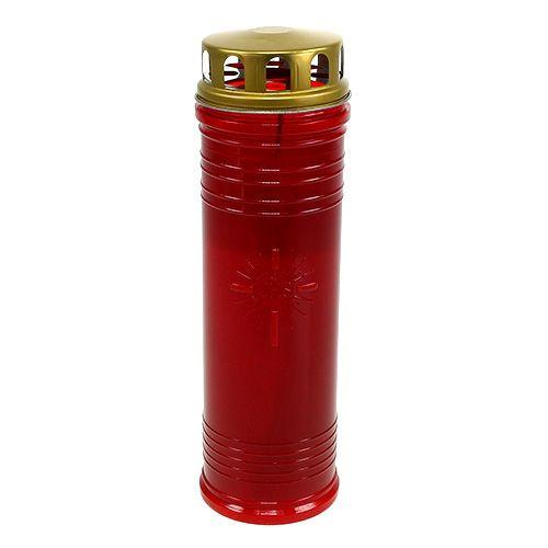 Grablichter Rot Ø7,5cm H24,5cm 1St