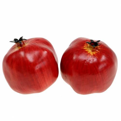 Deko Granatapfel Rot 9,5cm 4St
