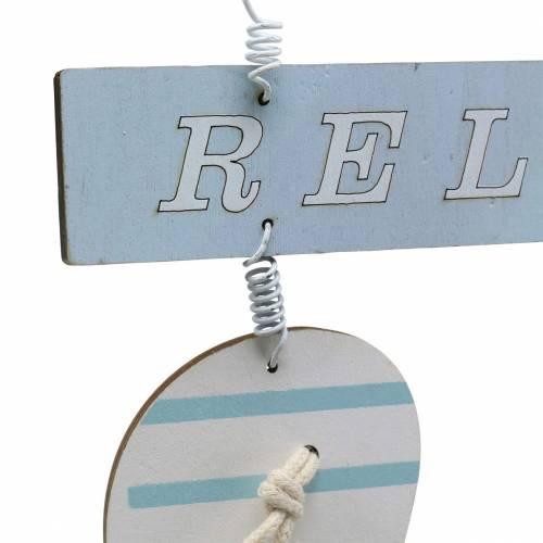 Flip-Flops zum Hängen Holz Hellblau 23×14cm 6St