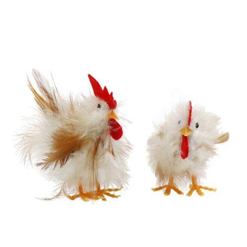 Hahn und Henne 6cm - 8cm 1 Paar