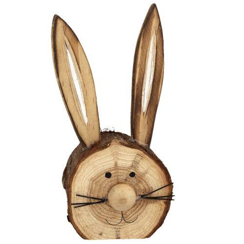 Hasenkopf aus Holz Natur 11cm - 12cm 6St