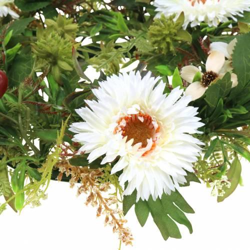 Herbstkranz Chrysantheme Weiß Ø30cm