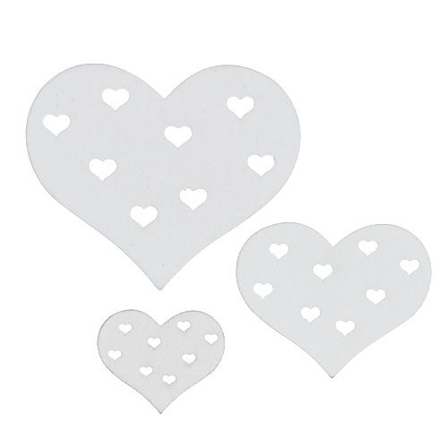 Herz Mix Weiß 3,3cm - 7cm 54St