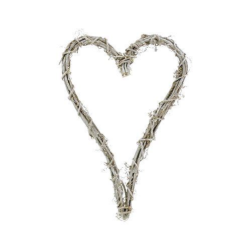 Herz aus Weinrebe Weiß 20cm x 30cm