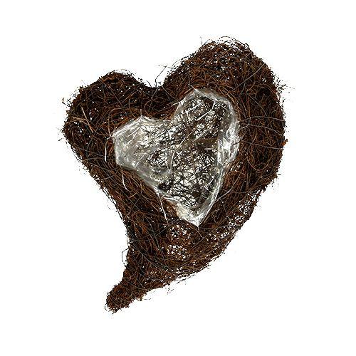Herz zum Bepflanzen Natur 20x30cm H9cm