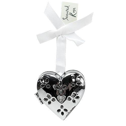 Herzhänger mit Rosenduft Silber 5cm