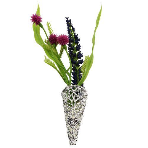 Hochzeitsanstecker mit Magnet silber 4,5cm