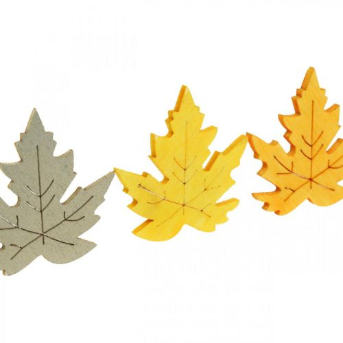Streudeko Herbst, Ahorn-Blätter, Herbstlaub Golden, Orange, Gelb 4cm 72St