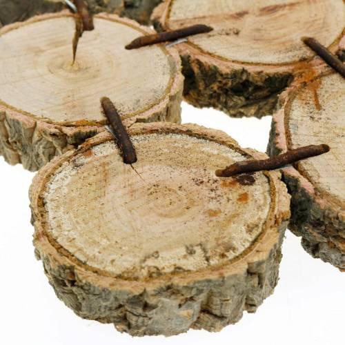 Deko-Untersetzer Holzscheiben Natur 22×22cm