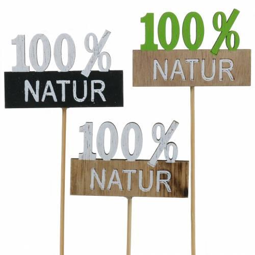 Dekostecker 100% Natur H28,5cm 12St