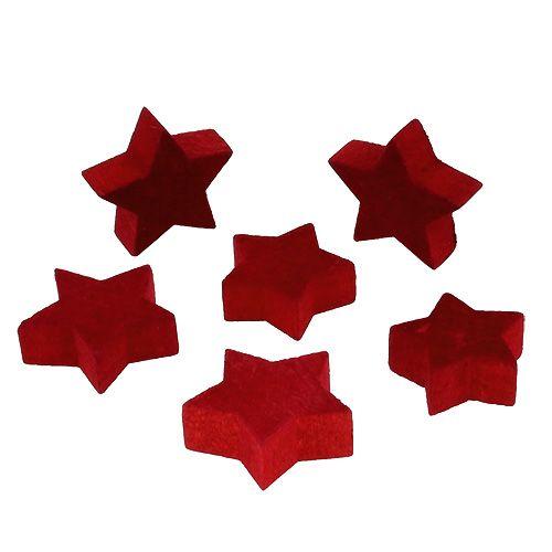 Holzsterne Rot zum Streuen 36St