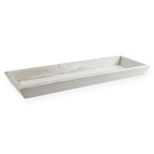 Holzschale Weiß 35cm x 11cm