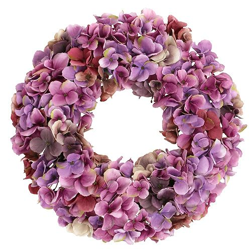 hortensienkranz 35cm violett lilla gro handel und lagerverkauf. Black Bedroom Furniture Sets. Home Design Ideas