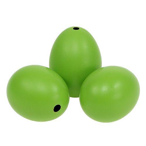 Hühnereier 5,5cm - 7cm Grün 12St