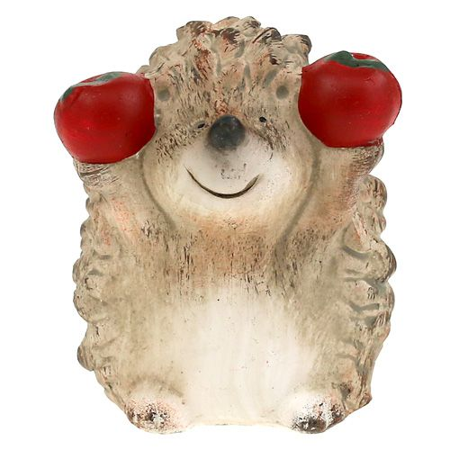 igel keramikfigur mit apfel braun 75cm633376