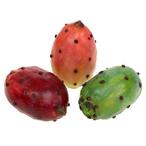 Kaktusfeige künstlich farbig sortiert 8,5cm 3St