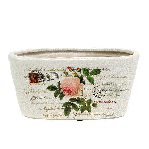 Keramik Schale oval 22x10cm H11cm 2St