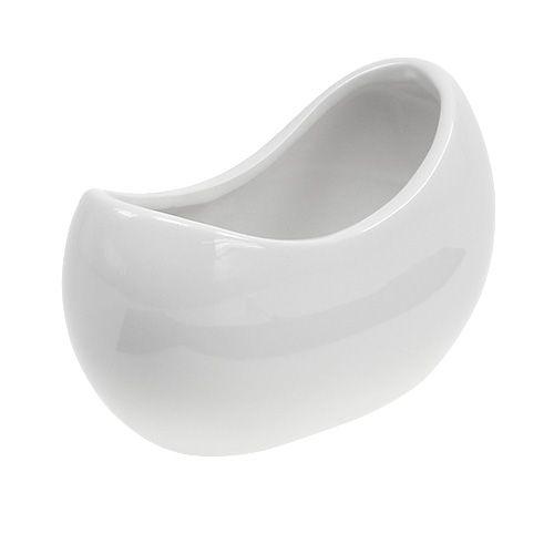 Keramik Schale Weiß 14,5 x 6,8cm H10cm 4St