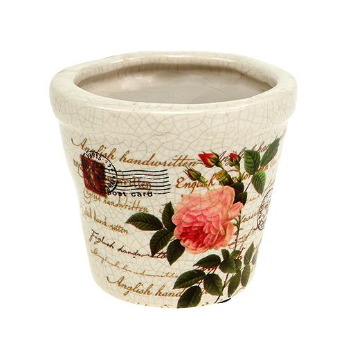 Keramik Topf mit Rosen Ø8,5cm H7,5cm