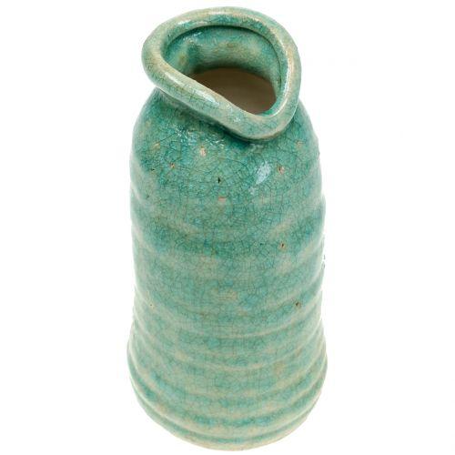 Keramikvase Antikblau H21cm