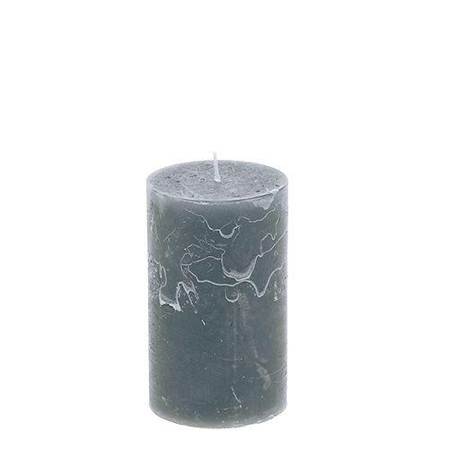 Kerze Grau 60mm x 100mm 8St