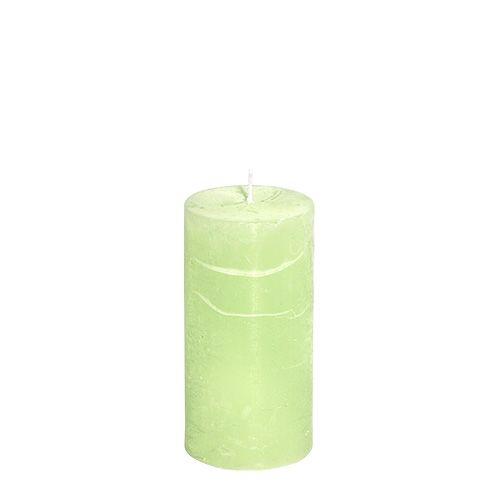 Kerze Mint 50mm x 100mm durchgefärbt 12St